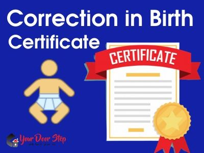 Correction in Birth Certificate